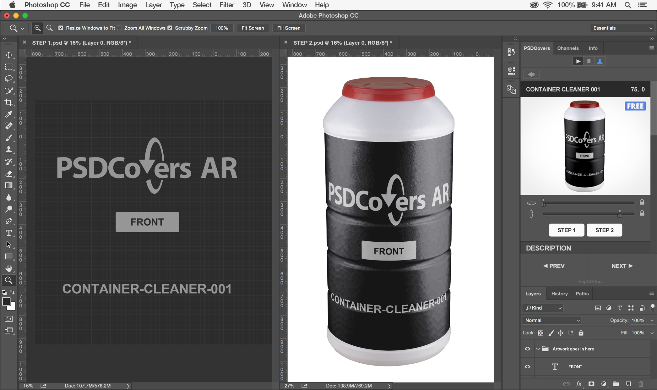 AR Mockup Panel Features Tutorial