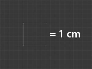 AR Mockup template grid based on 1cm segments