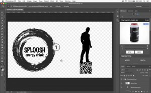 Place your artwork onto the AR Mockup template
