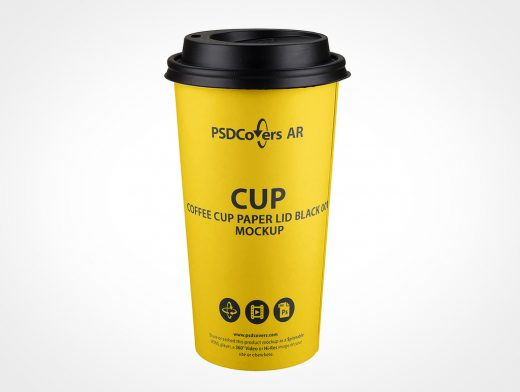 Paper Hot Coffee Cup Mockup