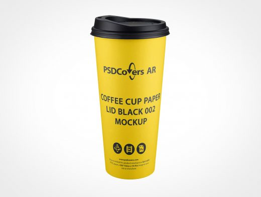 Large Paper Coffee Cup Mockup