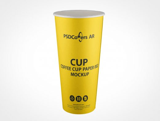 Disposable Coffee Cup Mockup