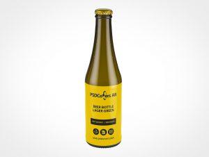 Labeled Beer Bottle Mockup