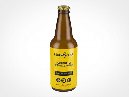 High-Resolution Beer Bottle Mockup