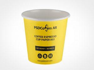 Espresso Coffee Paper Cup Mockup