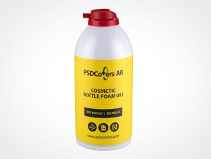 Foam Cosmetic Bottle Mockup