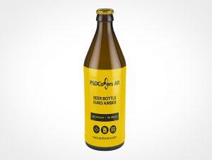 Premium Beer Bottle Mockup