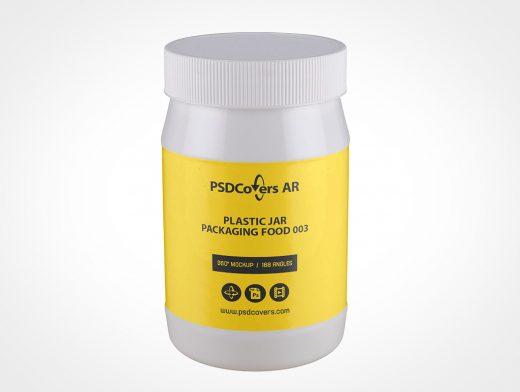 Plastic Jar Packaging Mockup