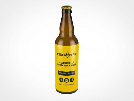 Brown Beer Bottle Mockup