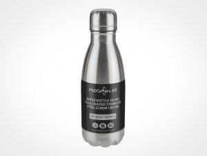 Metallic Water Bottle Mockup