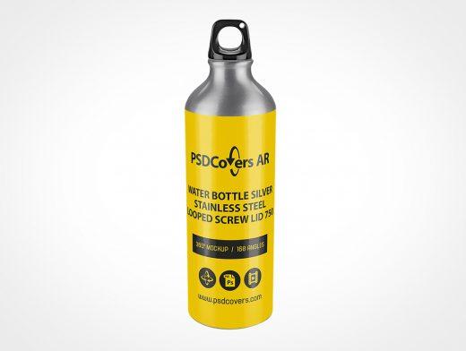 Steel Water Bottle Mockup