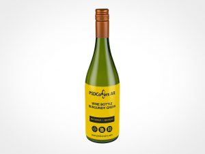 Wine Label Bottle Mockup