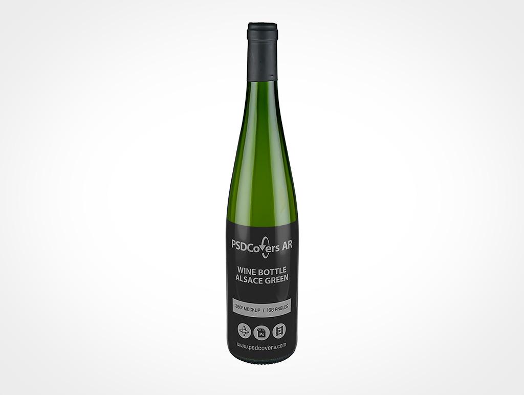 Long Neck Wine Bottle Mockup