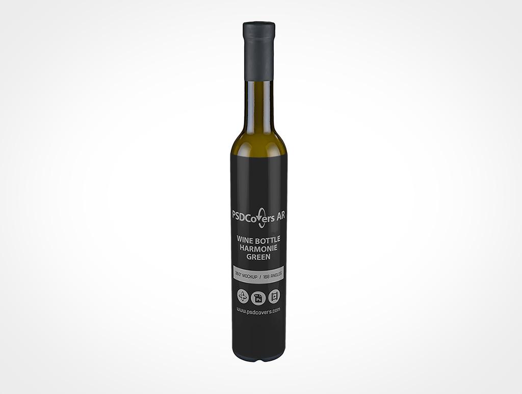 Small Wine Bottle Mockup