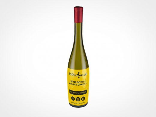 Tall Wine Bottle Mockup