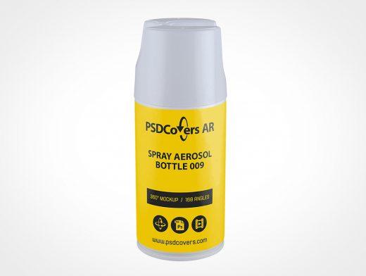 Cosmetic Aerosol Bottle Mockup