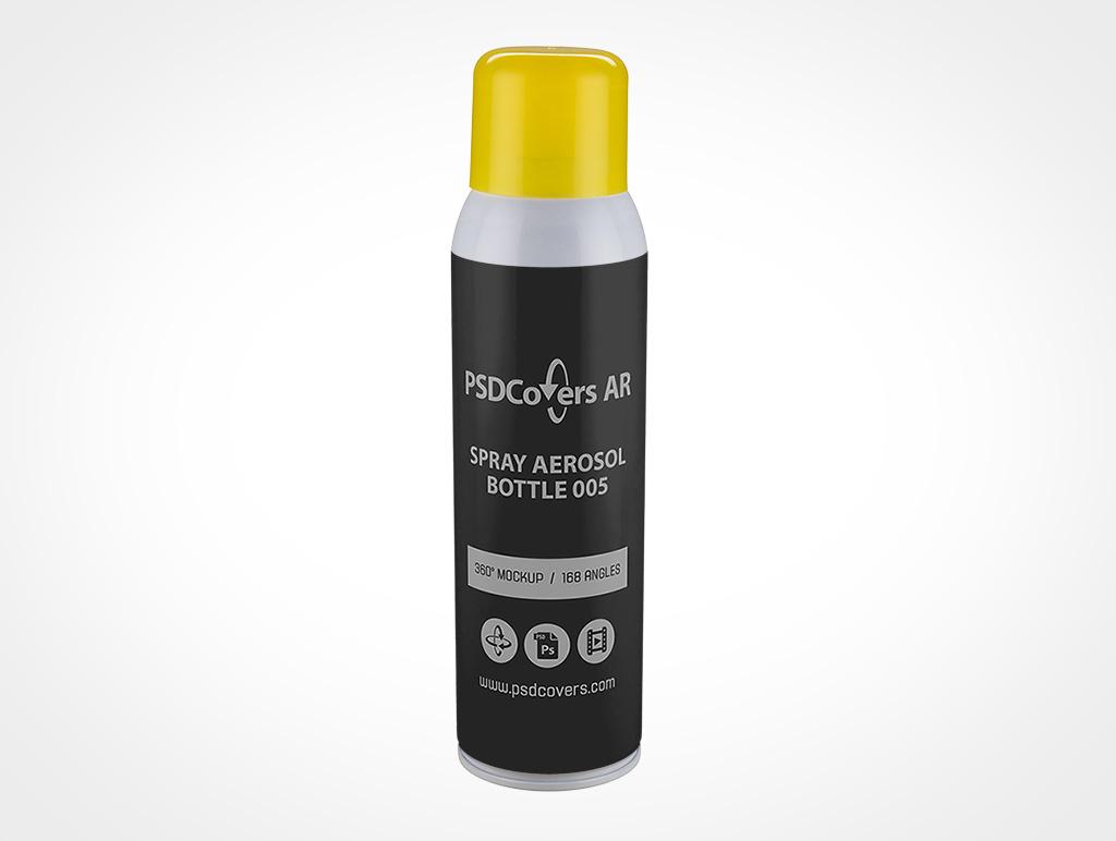 Aerosol Spray Bottle Mockup