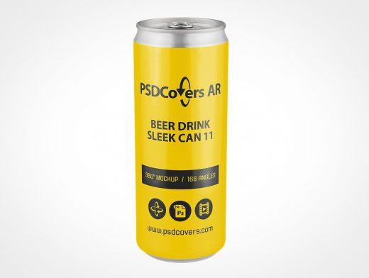 Sleek Drink Can Mockup