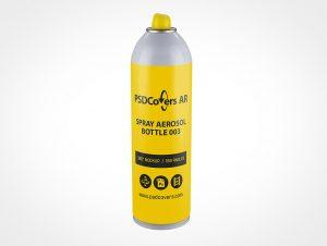 Aerosol Bottle Mockup