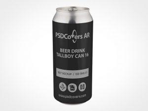 Tall Beer Can Mockup