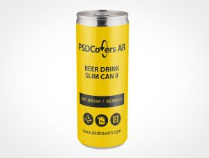 8oz Drink Can Mockup