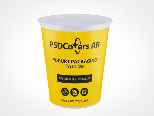 Tall Yogurt Packaging Mockup
