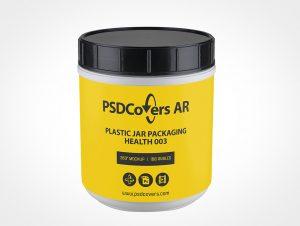 Health Plastic Jar Mockup