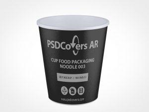 Food Cup Packaging Mockup