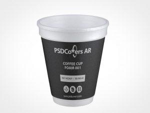 Foam Coffee Cup Mockup