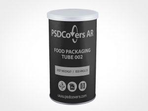 Food Packaging Tube Mockup