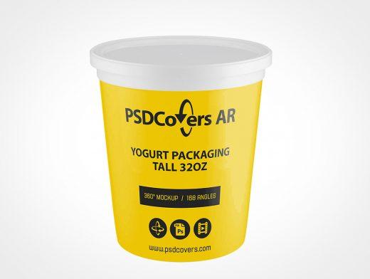 32oz Yogurt Packaging Mockup
