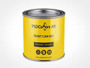 Metal Paint Can Mockup