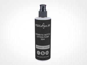 Pump Cosmetic Bottle Mockup