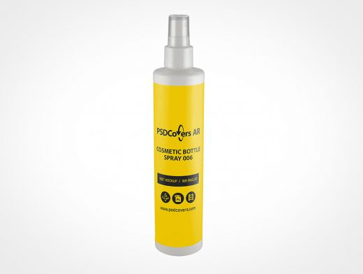 White Cosmetic Spray Bottle Mockup