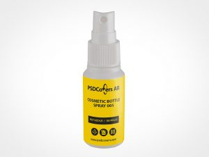 Mini Cosmetic Spray Bottle Mockup