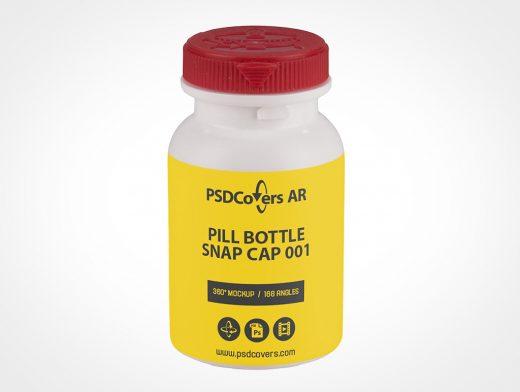 Small Pill Bottle Mockup