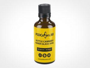 Amber Cannabis Bottle Mockup