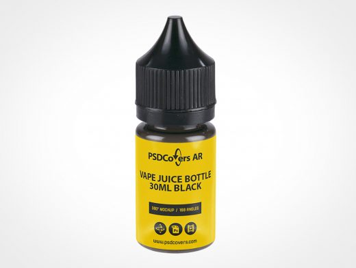 Vape Juice Bottle Mockup