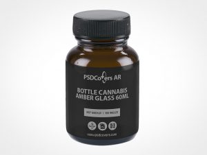 Amber Glass Softgel Bottle Mockup