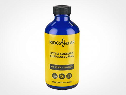 Cobalt Blue CBD Bottle Mockup