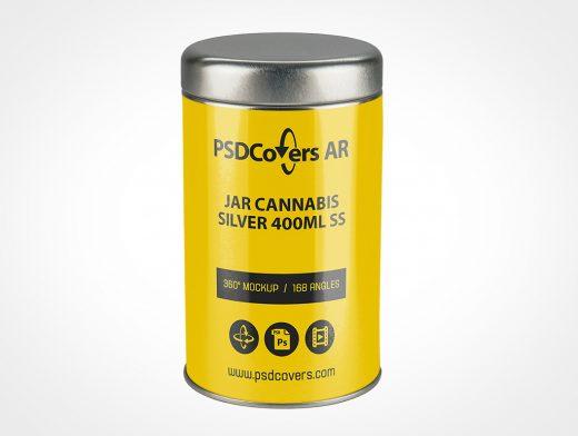 Cannabis Stash Jar Mockup