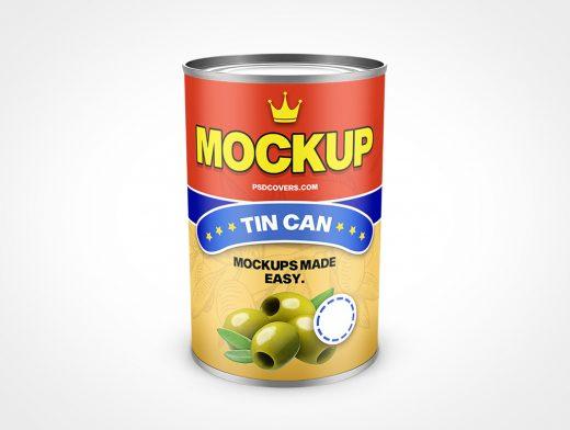 Food Can Tin Mockup