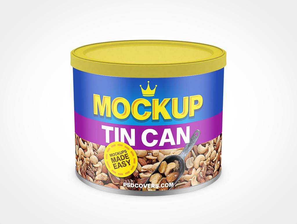 Metal Tin Can Mockup