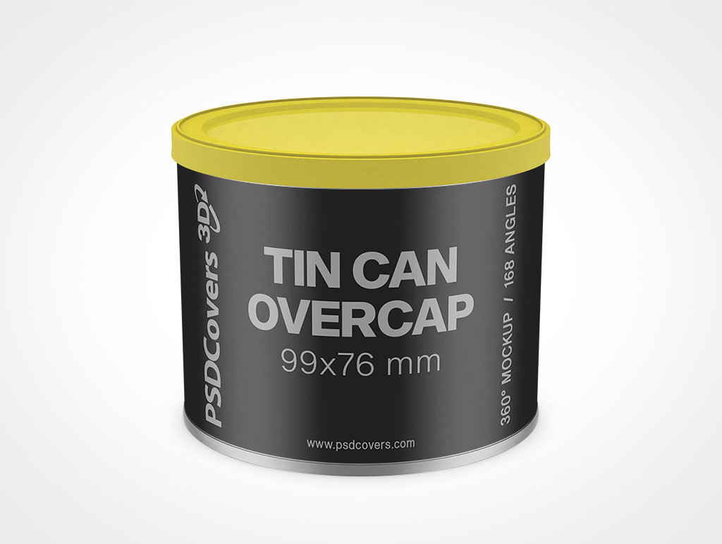 99mm x 76 mm TIN CAN WITH OVERCAP MOCKUP