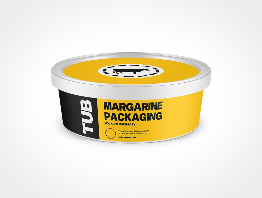 MARGARINE PACKAGING SNAP LID 8OZ MOCKUP 114X41