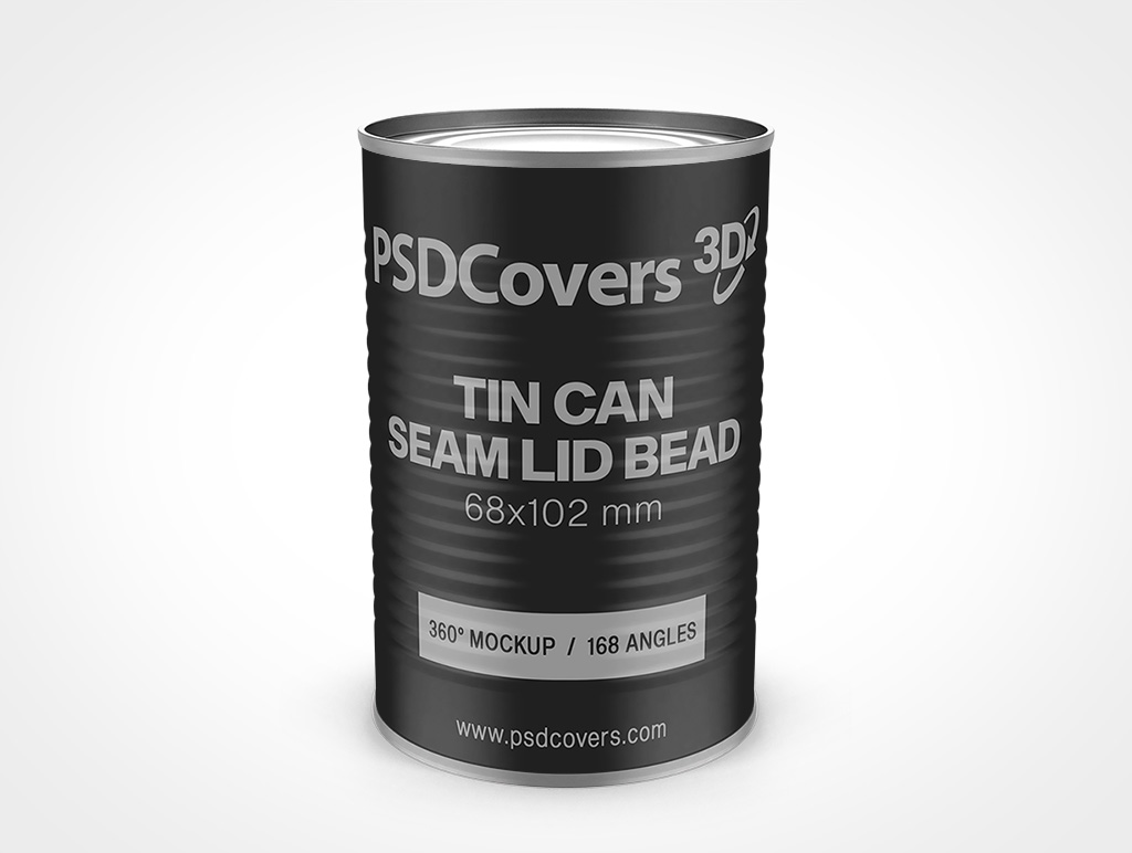 68X102 MM TIN CAN WITH SEAM LID BEADED SIDES MOCKUP