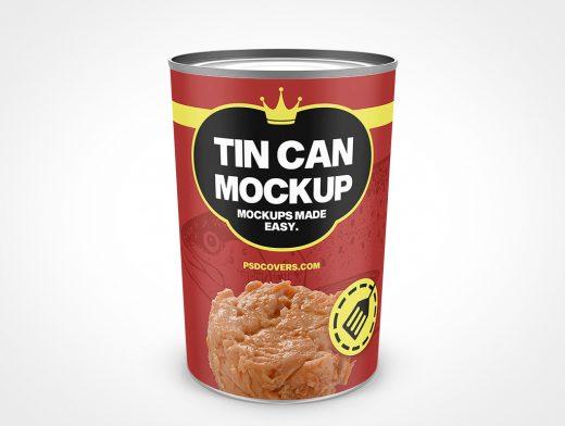 Tall Tapered Tin Can Mockup