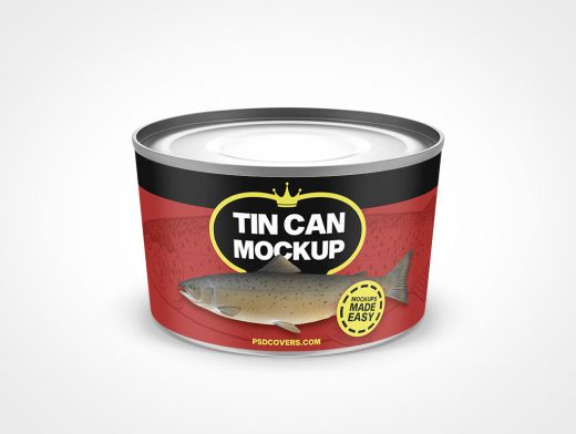 Small Tapered Tin Can Mockup