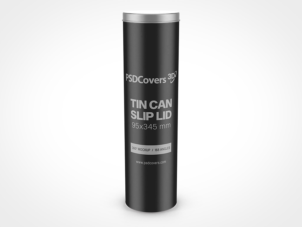 95X345 MM TIN CAN WITH SLIP LID MOCKUP