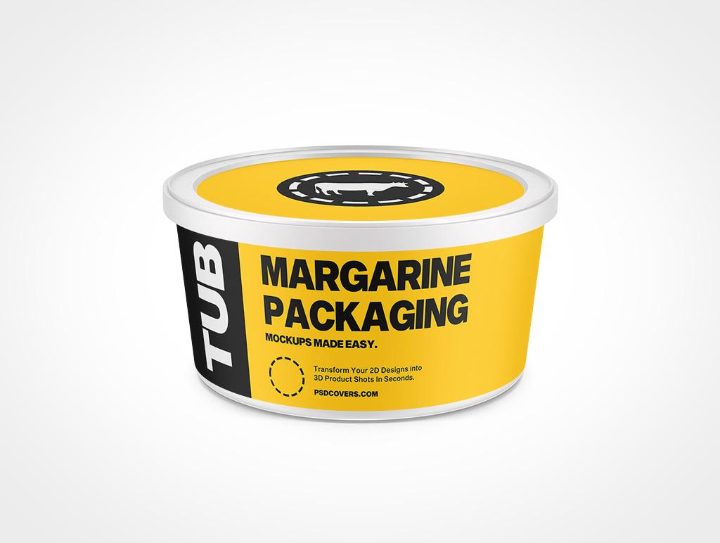 MARGARINE PACKAGING SNAP LID 32OZ MOCKUP 158X78